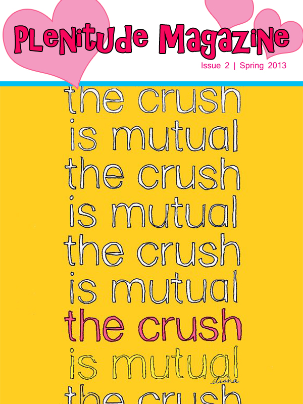 Crush is Mutual bigger hearts pink stroke